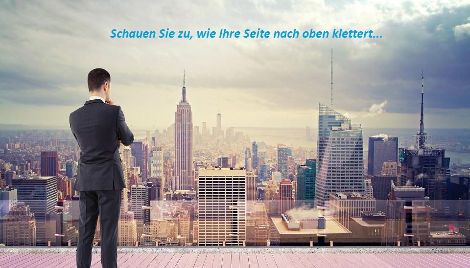 man  looking at city